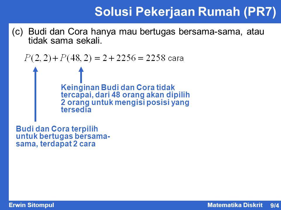 Solusi Pekerjaan Rumah (PR7)