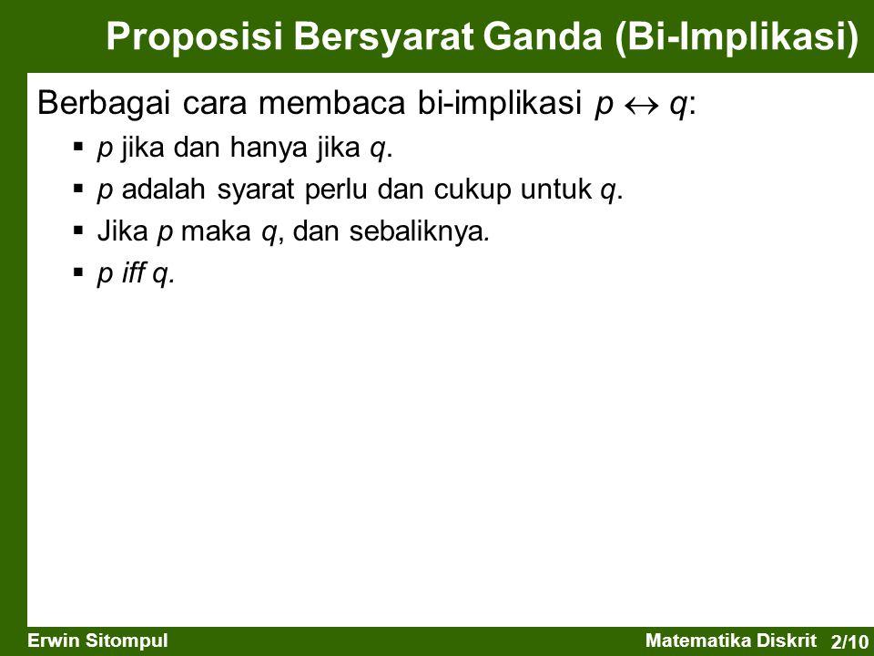 Proposisi Bersyarat Ganda (Bi-Implikasi)