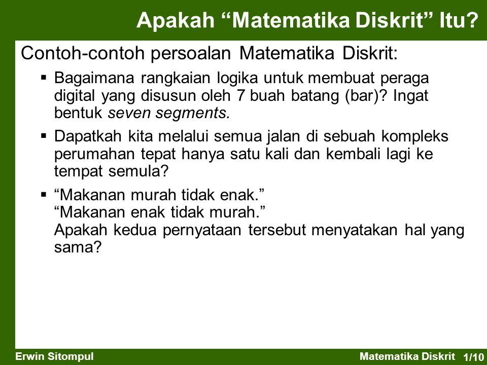 Apakah Matematika Diskrit Itu