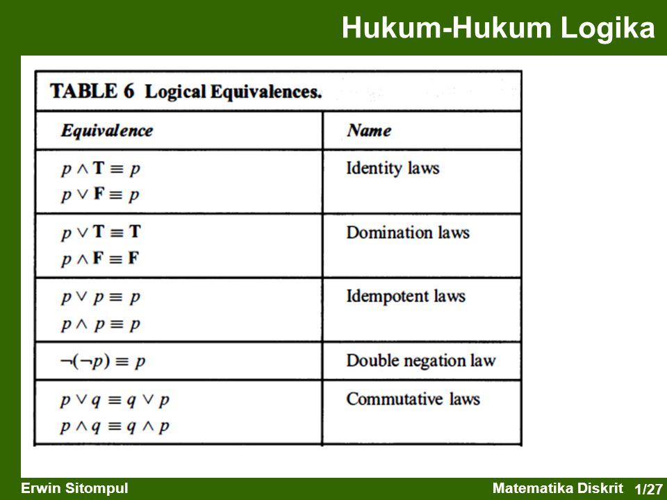 Hukum-Hukum Logika
