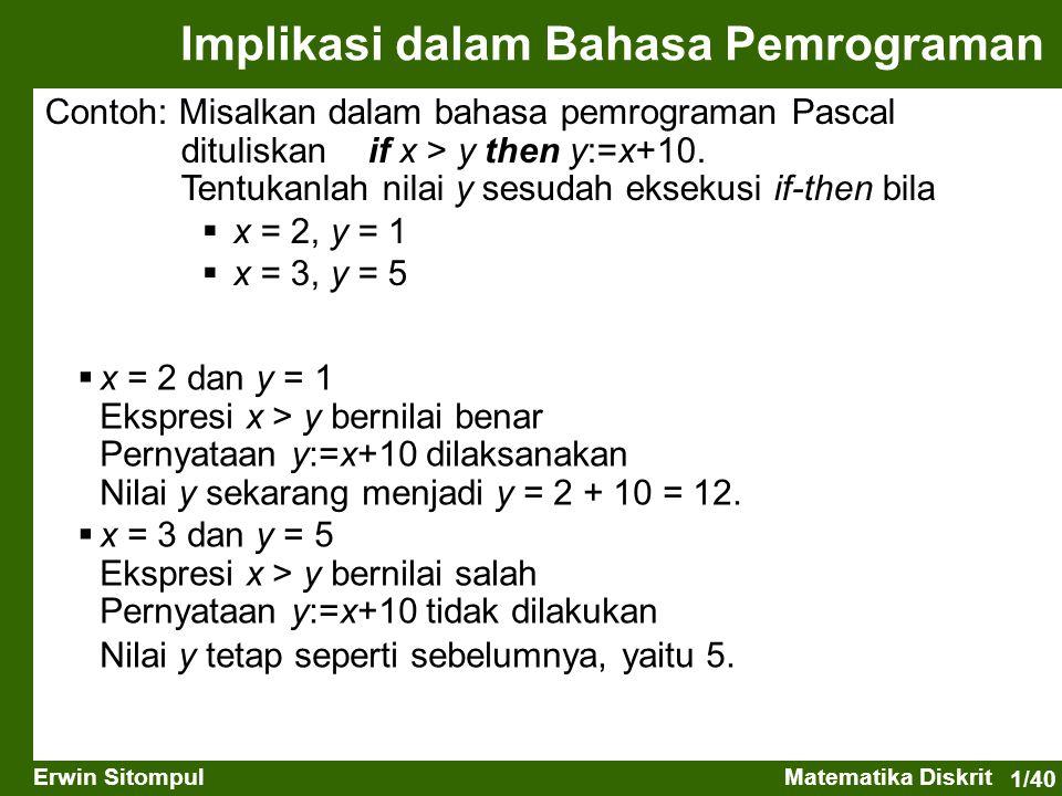 Implikasi dalam Bahasa Pemrograman