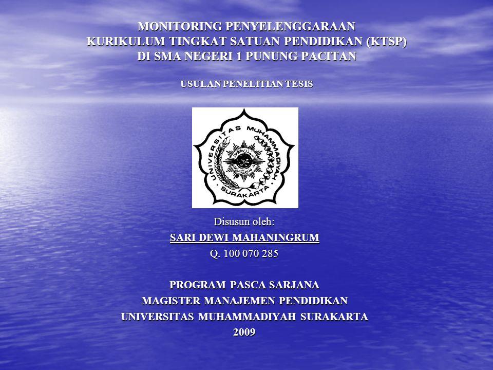 MAGISTER MANAJEMEN PENDIDIKAN UNIVERSITAS MUHAMMADIYAH SURAKARTA