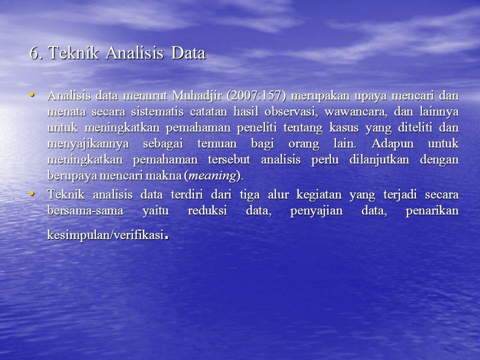 6. Teknik Analisis Data