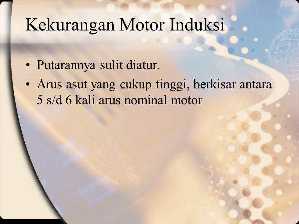 Kekurangan Motor Induksi
