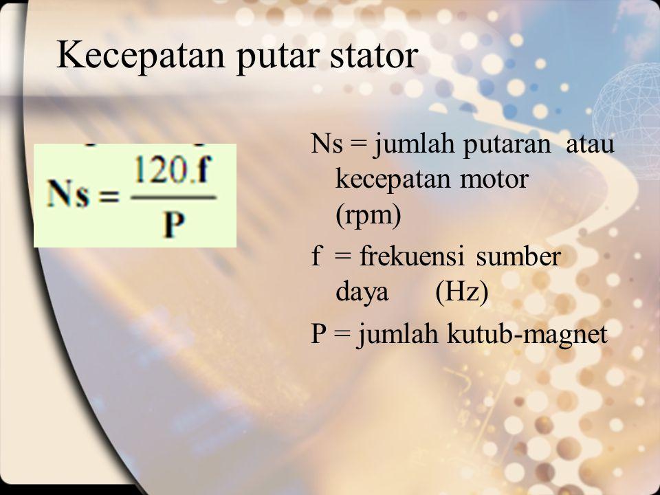 Kecepatan putar stator