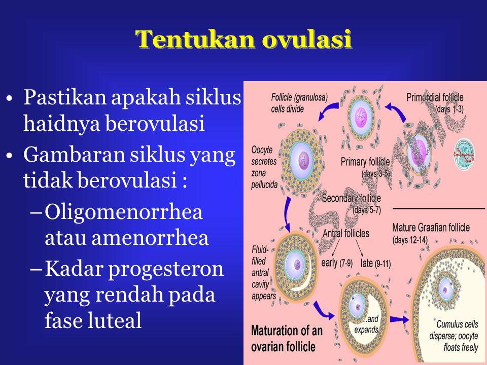 Tentukan ovulasi Pastikan apakah siklus haidnya berovulasi