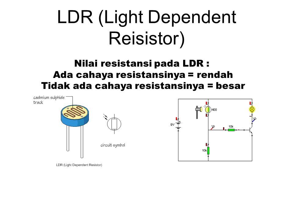 LDR (Light Dependent Reisistor)