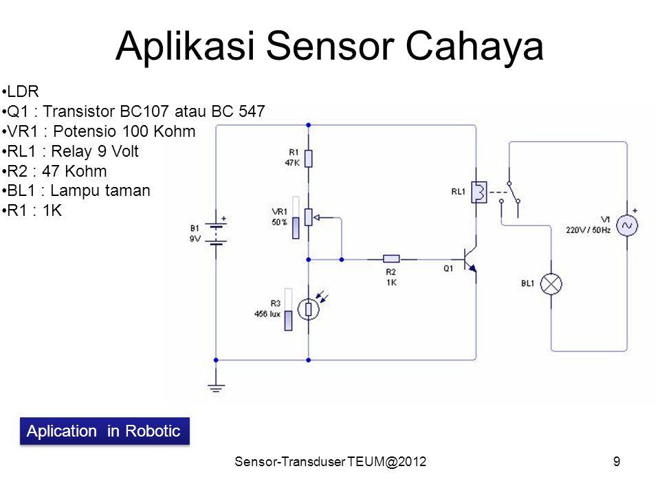 Aplikasi Sensor Cahaya