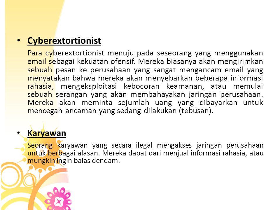 Cyberextortionist