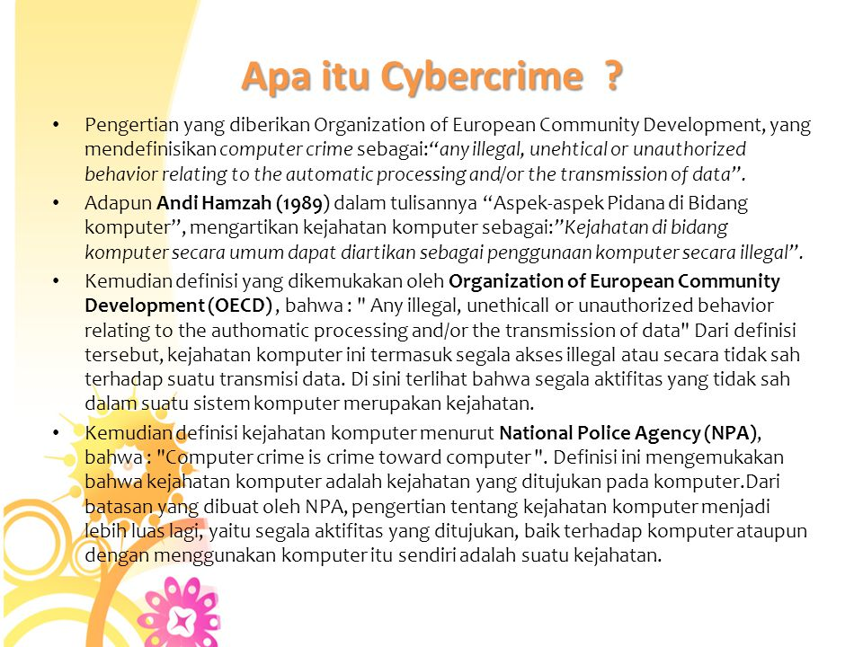 Apa itu Cybercrime