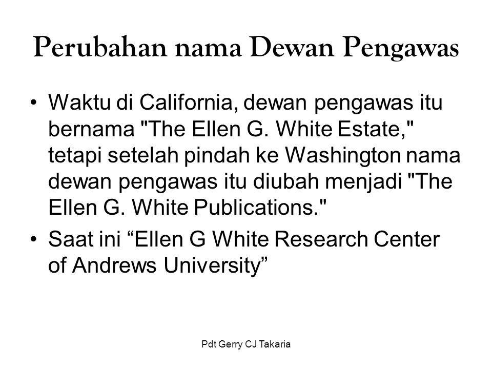 Perubahan nama Dewan Pengawas