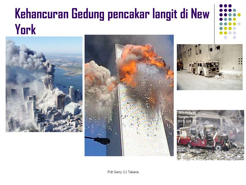 Kehancuran Gedung pencakar langit di New York