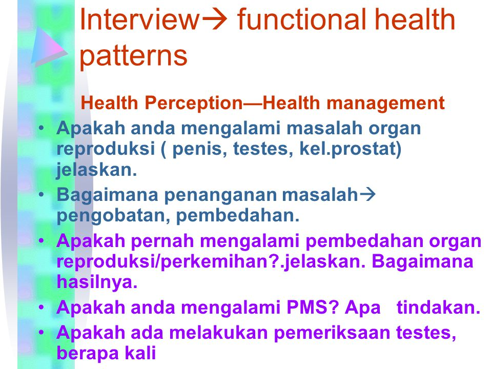 Interview functional health patterns