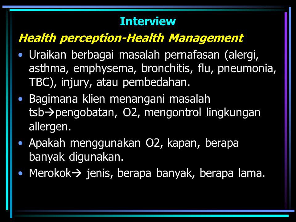Interview Health perception-Health Management.