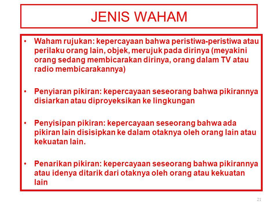 JENIS WAHAM