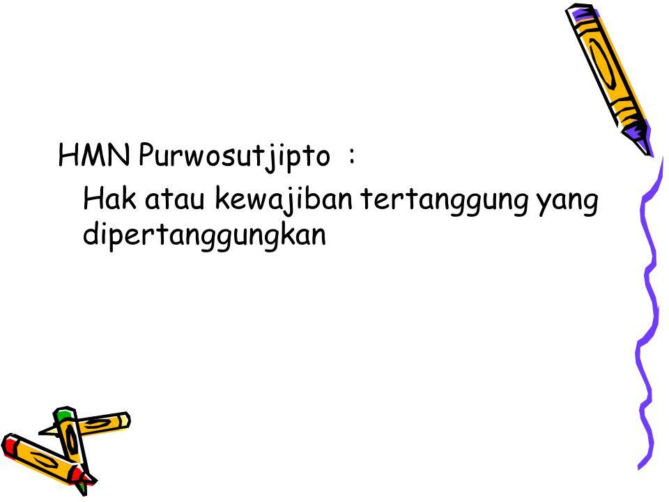 HMN Purwosutjipto : Hak atau kewajiban tertanggung yang dipertanggungkan