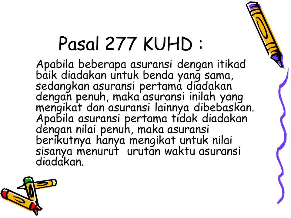 Pasal 277 KUHD :