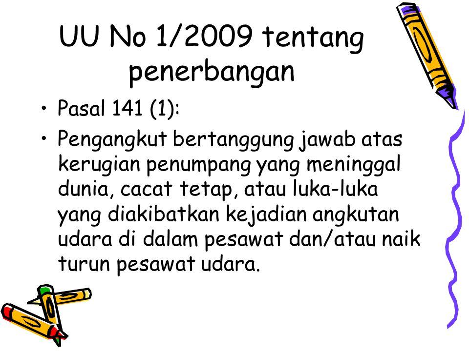 UU No 1/2009 tentang penerbangan