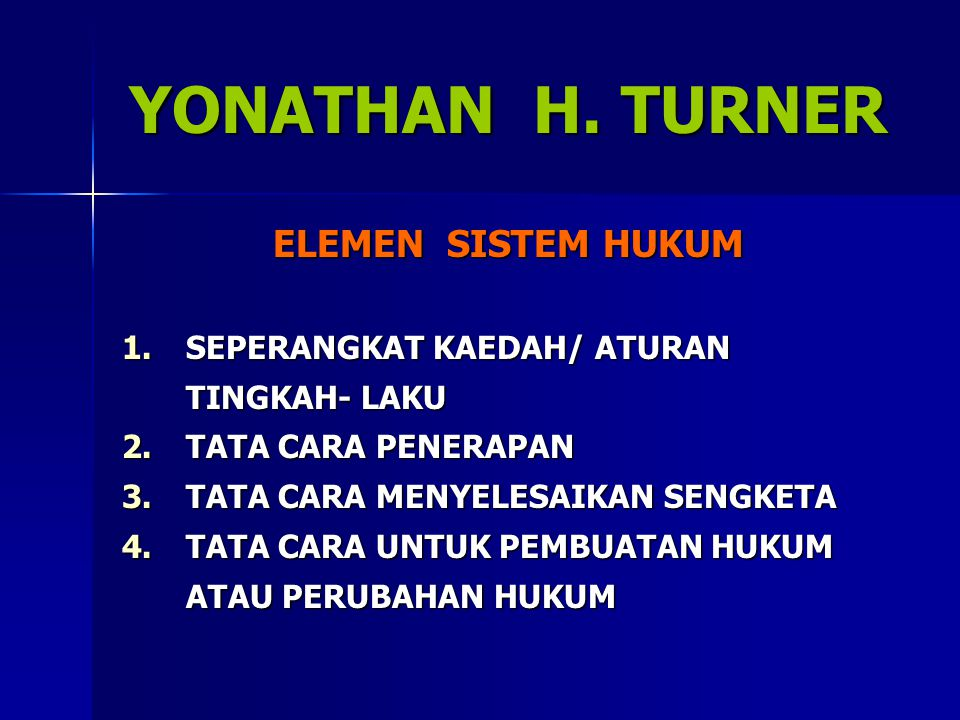 YONATHAN H. TURNER ELEMEN SISTEM HUKUM