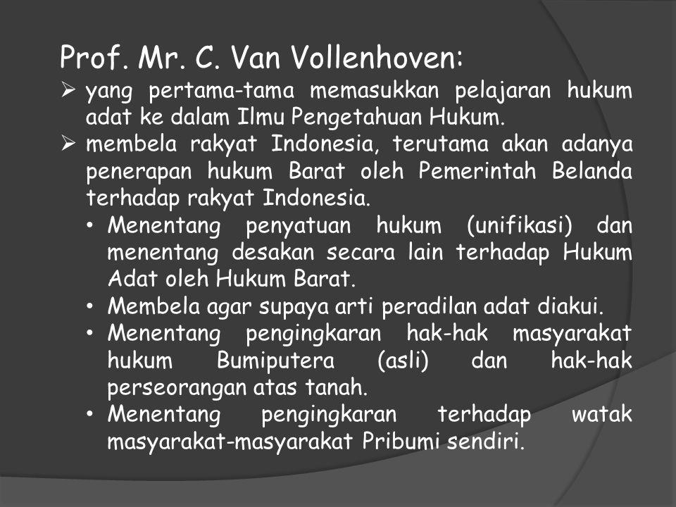 Prof. Mr. C. Van Vollenhoven: