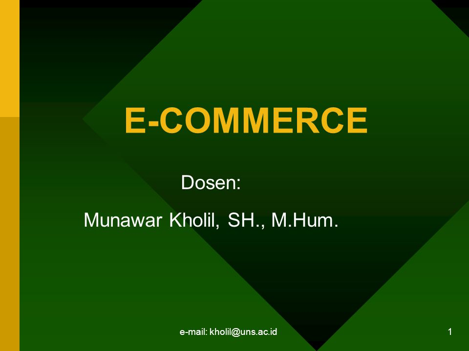 Dosen: Munawar Kholil, SH., M.Hum.