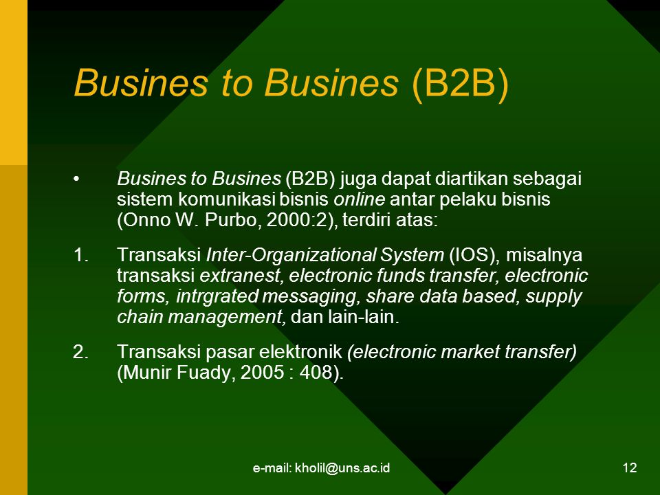 Busines to Busines (B2B)