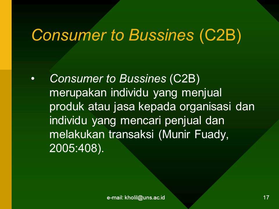 Consumer to Bussines (C2B)