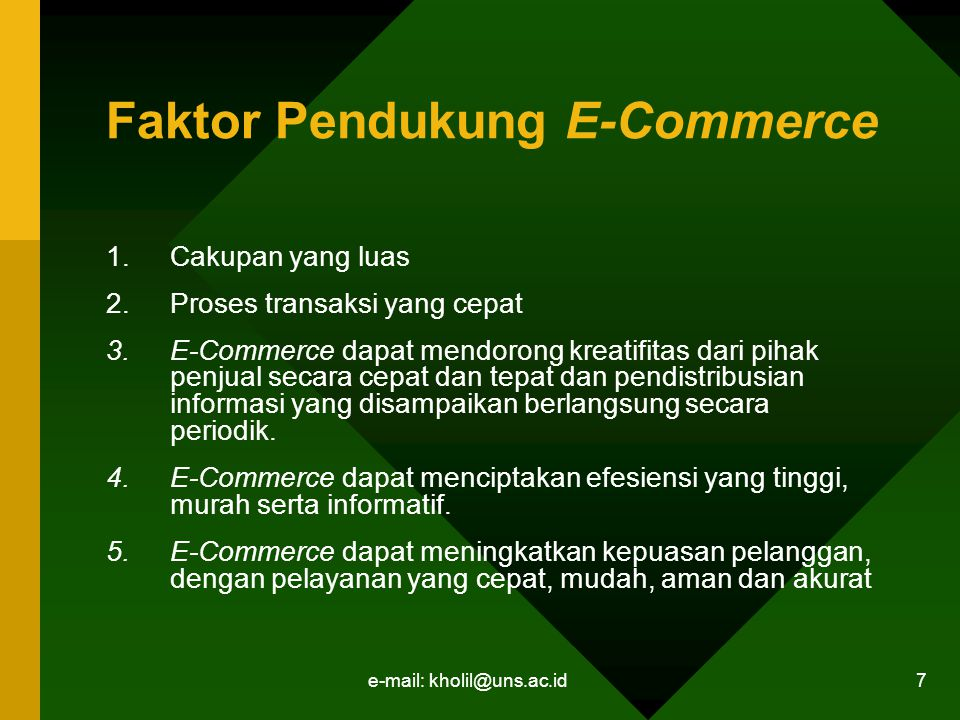 Faktor Pendukung E-Commerce