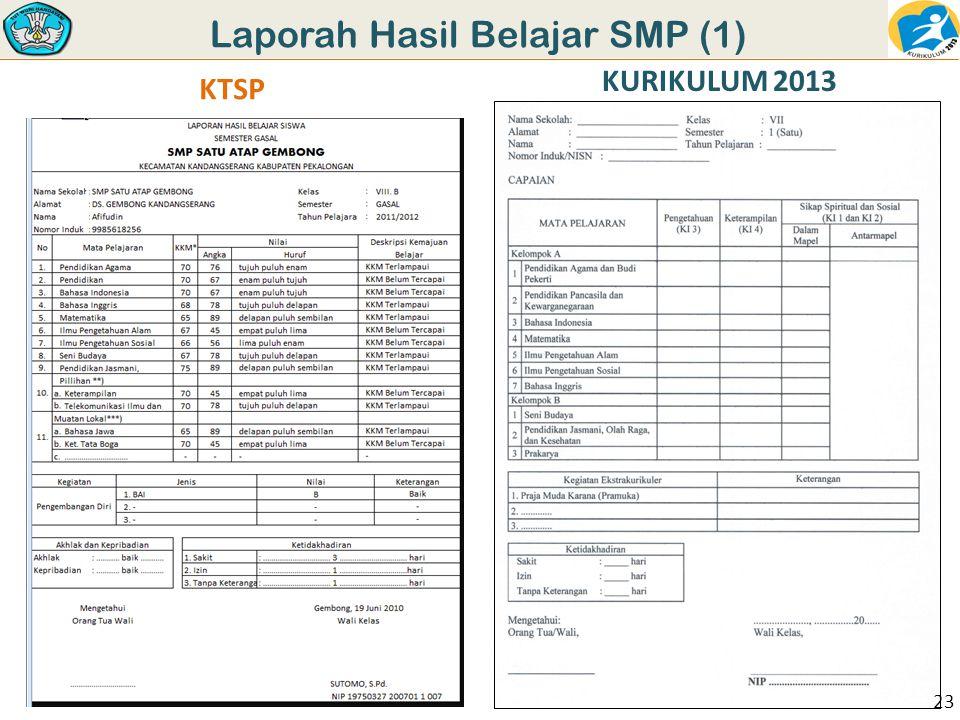 Laporah Hasil Belajar SMP (1)