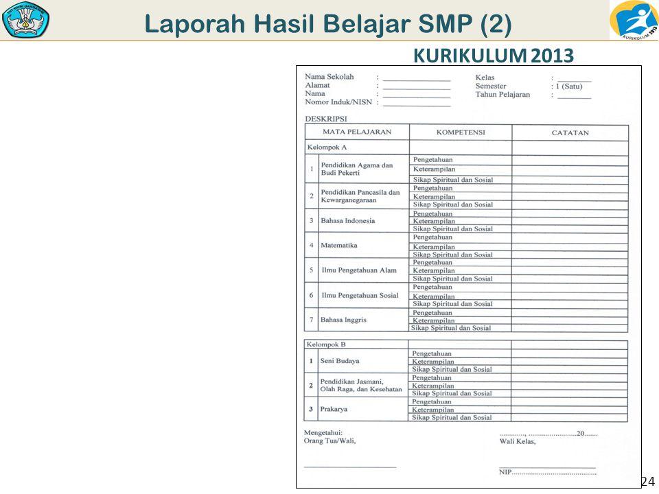 Laporah Hasil Belajar SMP (2)