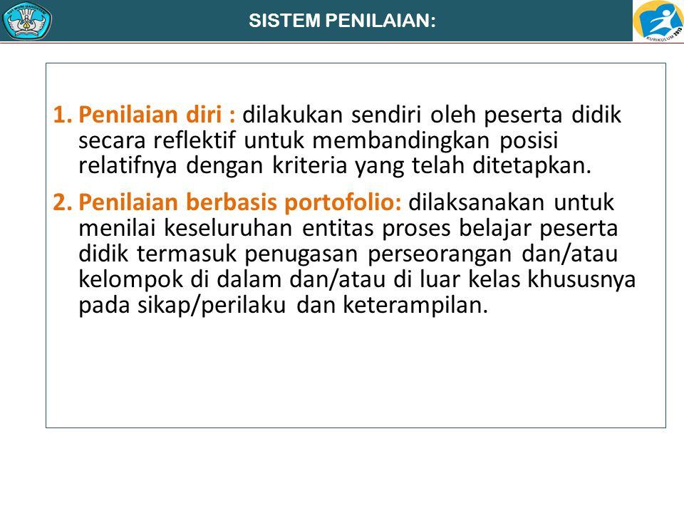 SISTEM PENILAIAN:
