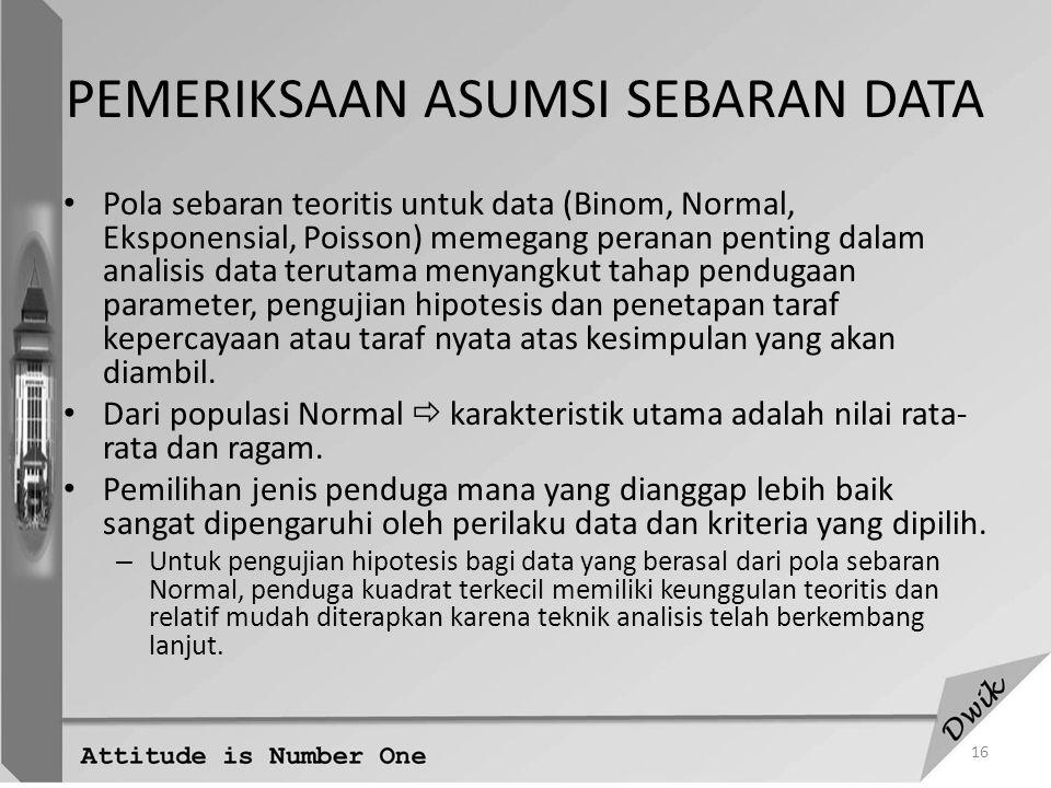 PEMERIKSAAN ASUMSI SEBARAN DATA