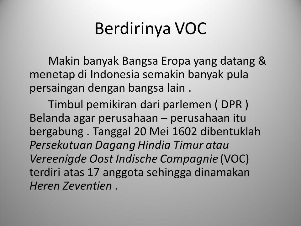 Berdirinya VOC