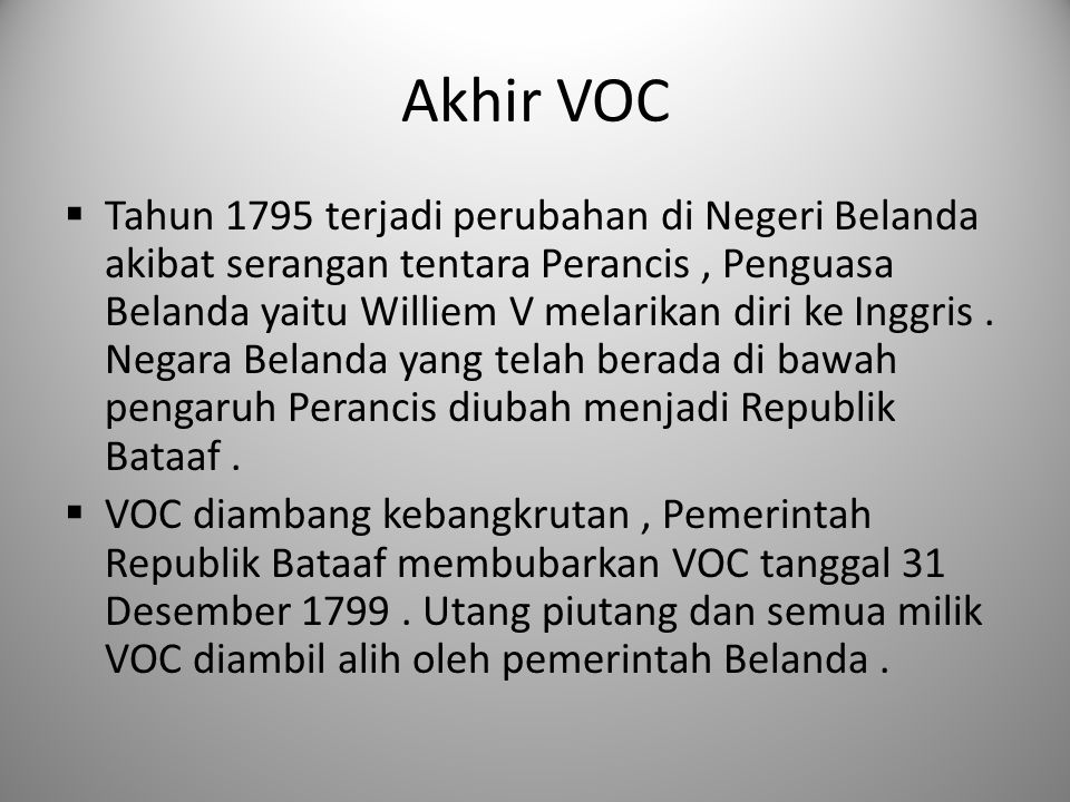 Akhir VOC