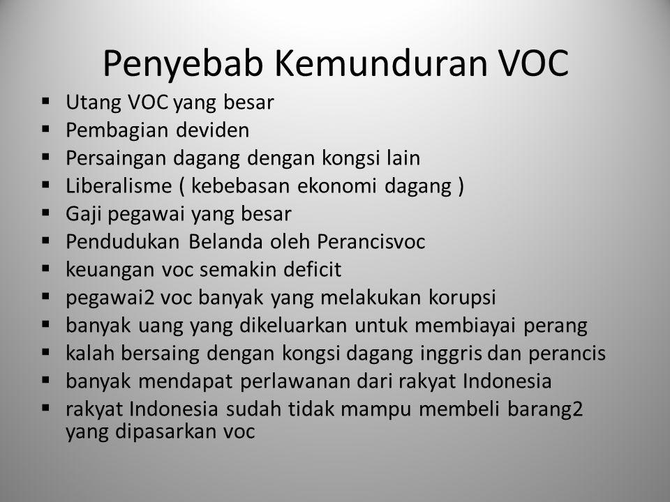 Penyebab Kemunduran VOC