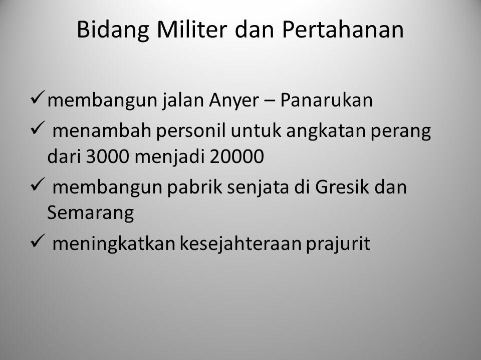Bidang Militer dan Pertahanan