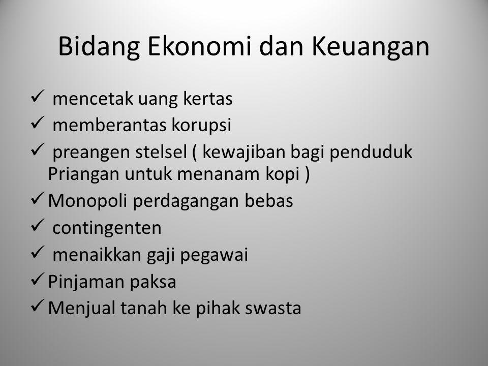 Bidang Ekonomi dan Keuangan