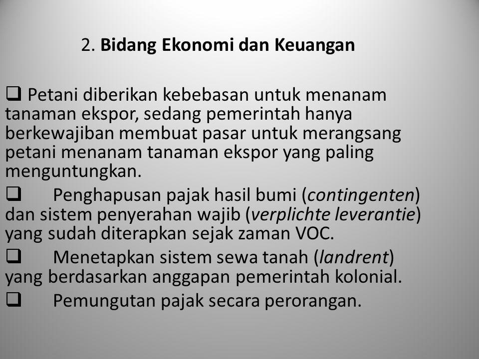 2. Bidang Ekonomi dan Keuangan