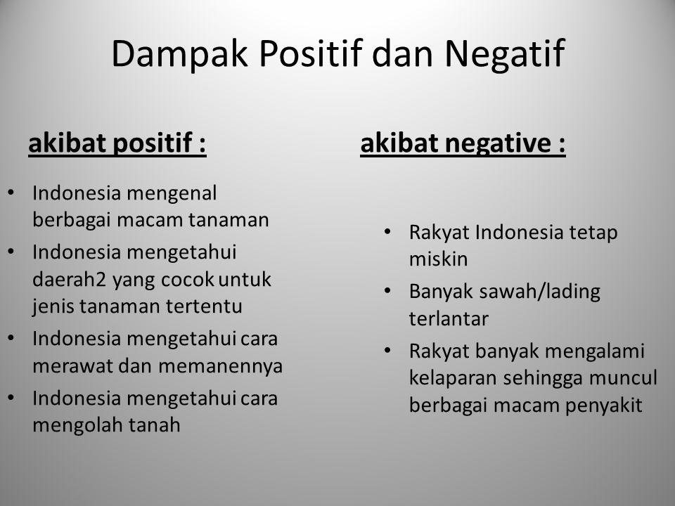 Dampak Positif dan Negatif