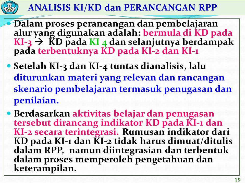 ANALISIS KI/KD dan PERANCANGAN RPP
