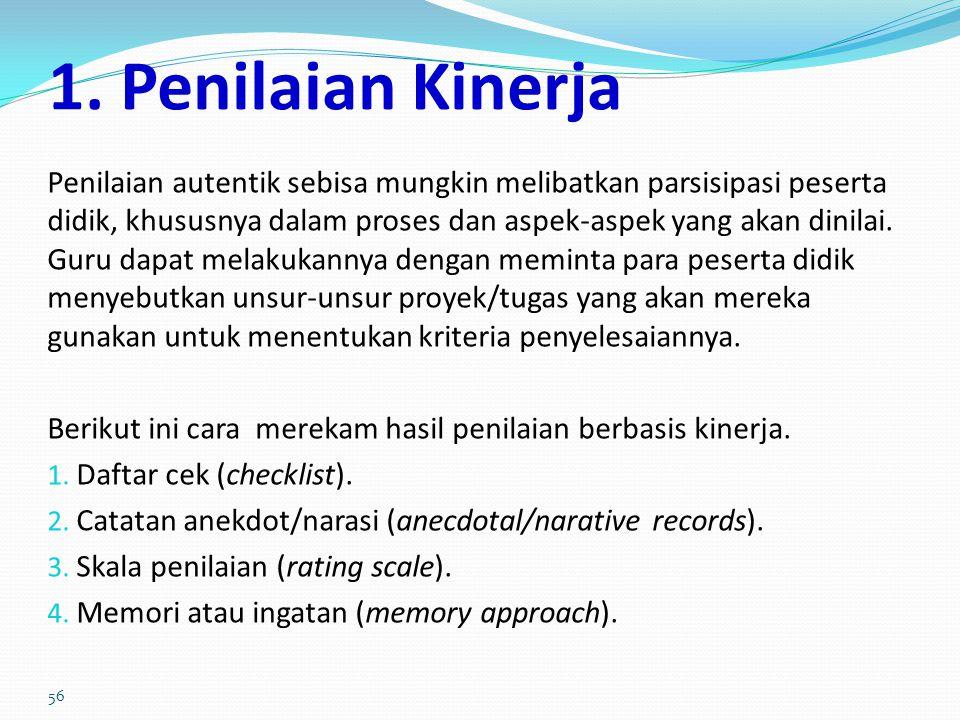 1. Penilaian Kinerja