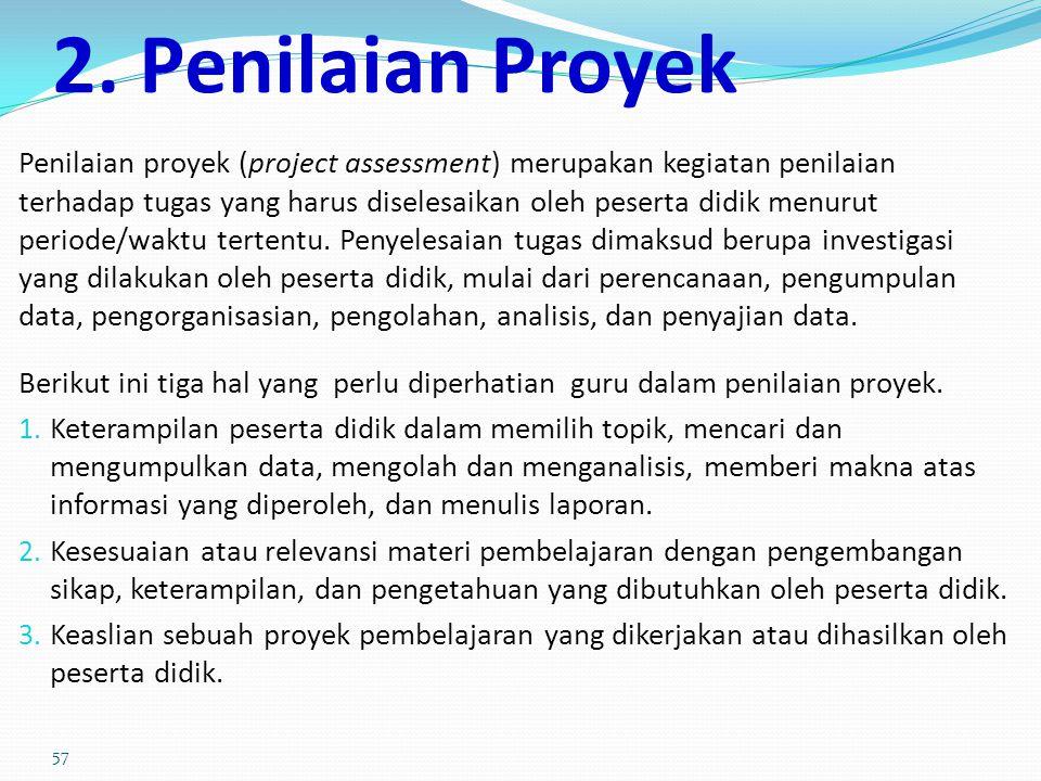 2. Penilaian Proyek