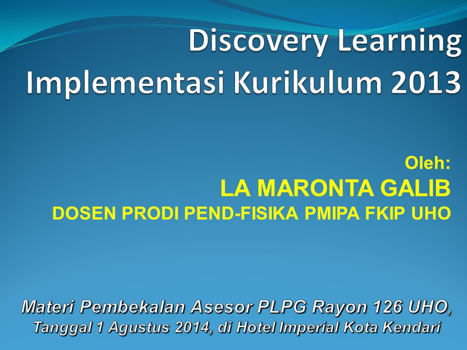 Discovery Learning Implementasi Kurikulum 2013