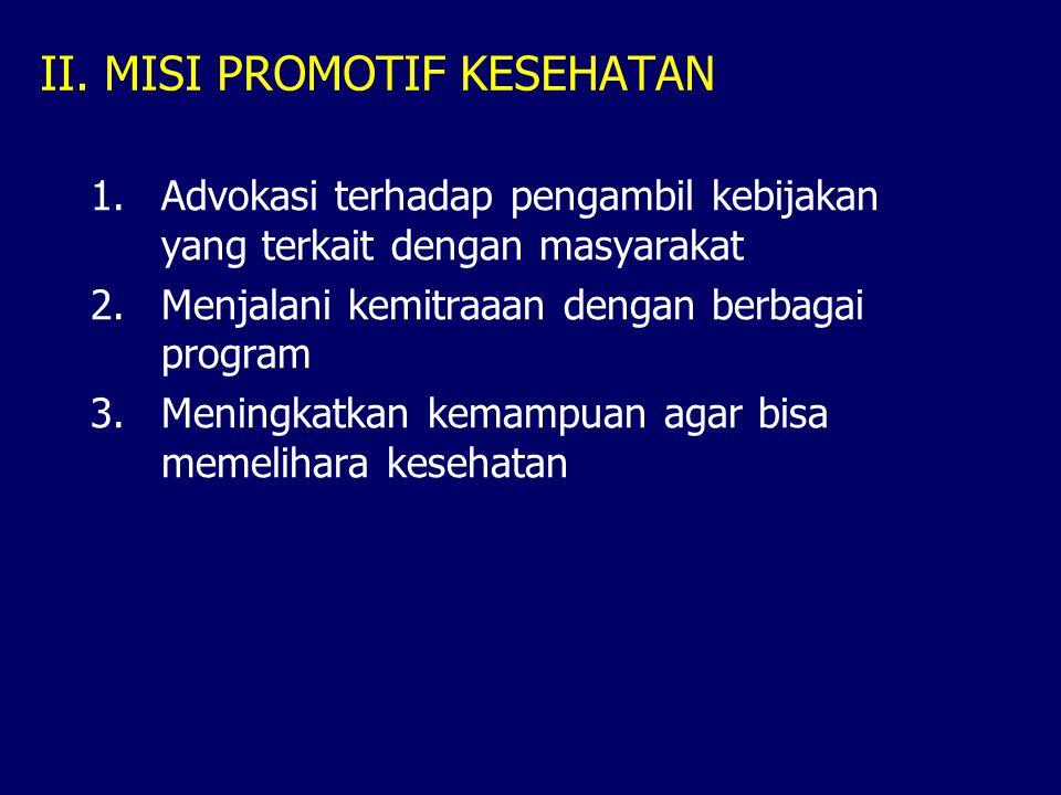 II. MISI PROMOTIF KESEHATAN