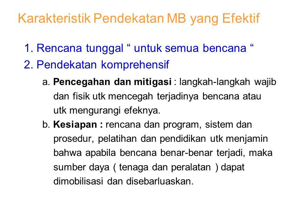 Karakteristik Pendekatan MB yang Efektif
