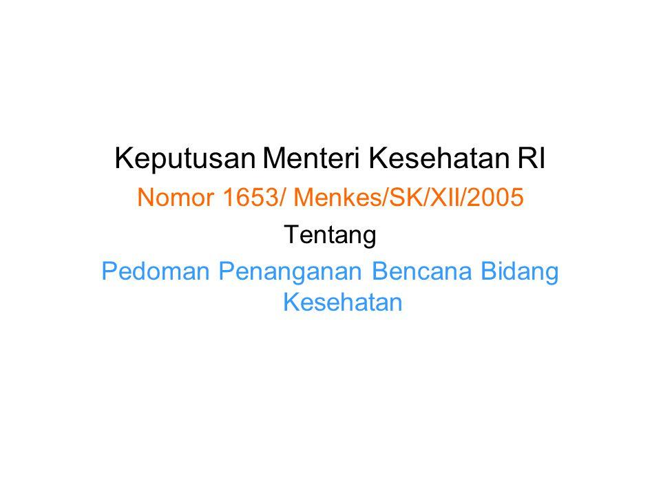 Keputusan Menteri Kesehatan RI