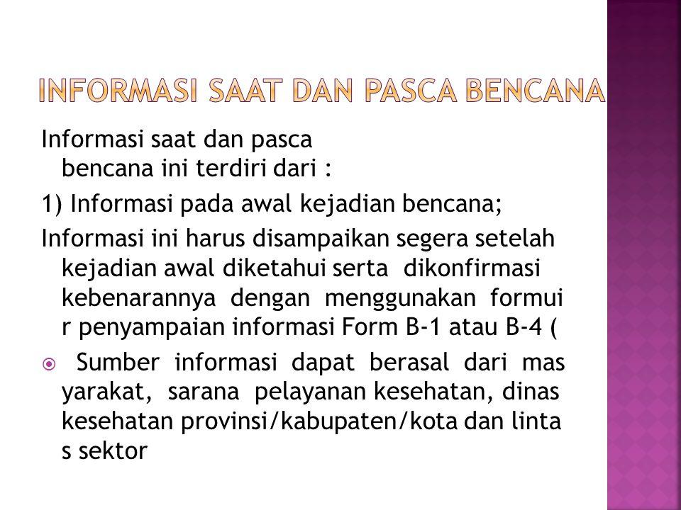 Informasi saat dan pasca bencana