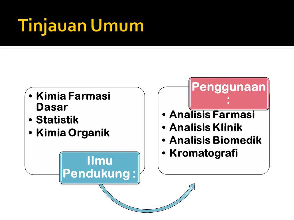 Tinjauan Umum Ilmu Pendukung : Kimia Farmasi Dasar Statistik