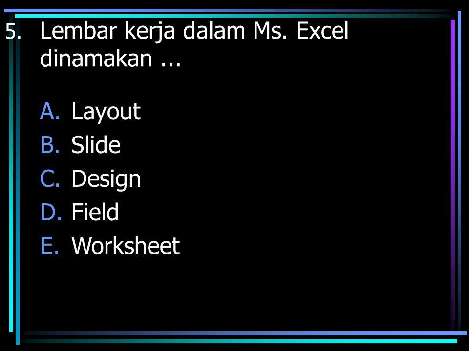 Layout Slide Design Field Worksheet