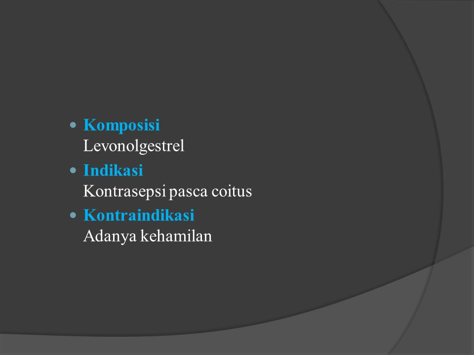Komposisi Levonolgestrel